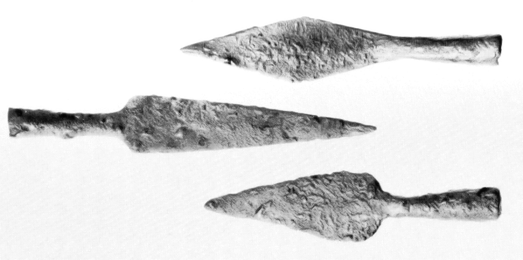 Late 11th century Saxon Arrowheads from Bell's Wharf, Southwark Bridge, London